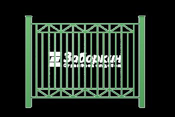 Секционные заборы из металлического прутка и профтрубы