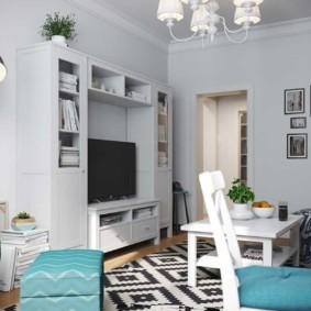 Цікаві ідеї по оформленню інтер'єру в вітальнях кімнатах